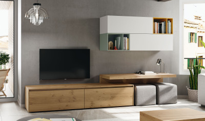 Mueble TV Roble Leopard Braley